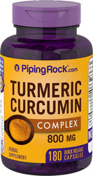 Turmeric Curcumin 800 mg with Black Pepper 180 Capsules