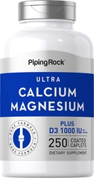 Ultra Calcium Magnesium Plus D3 1000Cal,500Mag,1000 IU 250 Coated Caplets