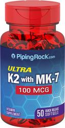Vitamin K-2 100 mcg 50 Capsules