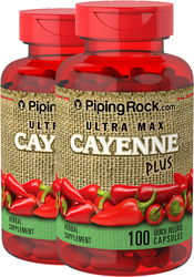 Ultra Max Cayenne Plus 2 Bottles x 100 Capsules