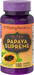 Ultra enzima de papaia suprema 180 Comprimidos mastigáveis