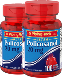 Policosanol 20mg Supplement for Cholesterol 2 x 100 Capsules