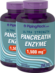 Pancreatin Enzyme 1500 mg 2 Bottles x 250 Coated Caplets