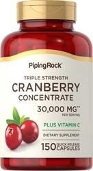 Ultra driedubbel sterke cranberry plus C, 30,000 mg (per portie) 150 Snel afgevende capsules