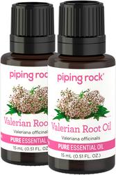 Valerian Root Essential Oil 2 Dropper Bottles x 1/2 fl oz (15 ml)