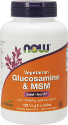 Glucosamina vegetariana e MSM  120 Capsule vegetariane