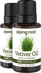 Vetiver Pure Essential Oil (GC/MS Tested), 1/2 fl oz (15 mL) Dropper Bottle