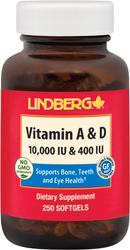 ビタミン A 5000 IU & D3 400 IU (10,000 IU / 400 IU) 250 ソフトジェル