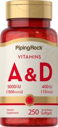 Vitamin A & D3   A-5000 IU D-400 IU 250 Softgels