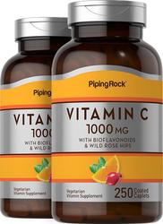 ビタミン C 1000mg 、バイオフラボノイド & ローズ ヒップ配合 250 コーティング カプレット