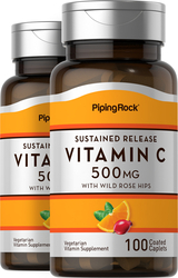 Vitamin C 500 mg  w/ Rosehips Timed Release 100 Tablets