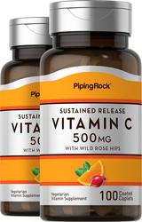 Vitamine C 500mg avec bioflavonoïdes et églantier - Libération lente 100 Comprimés