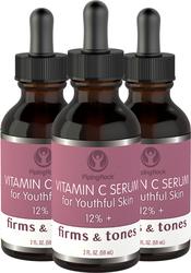Vitamin C Serum 12% 3 Dropper Bottles x 2 fl oz