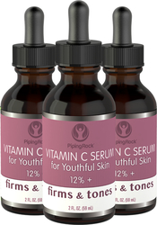 Vitamin C Serum 12% 3 Dropper Bottles x 2 fl oz