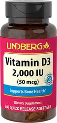 Vitamin D3, 240 Quick Release Softgels