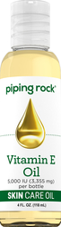 Vitamin E Pure Natural Skin Oil 5000 IU 4 fl oz (118 mL) Bottle