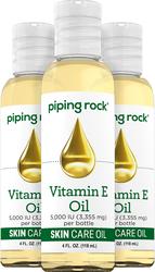 Óleo para a pele de Vitamina E natural pura -  4 fl oz (118 mL) Frascos