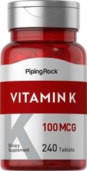 Vitamin K 100 mcg 240 Tablets