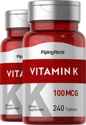 Vitamin K 100 mcg 2 x 240 Tablets