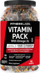 Vitamin Pack with Omega-3s, 90 Packets