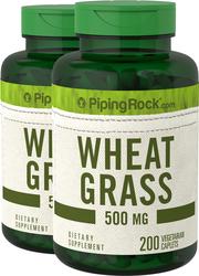 Wheat Grass 500 mg 2 Bottles x 200 Caplets
