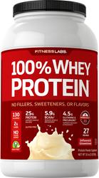 Proteína whey 100%  (sem sabor e sem açúcar) 2 lb (908 g) Frasco