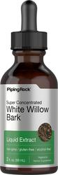 Extrait liquide d'écorce de saule blanc sans alcool 2 fl oz (59 mL) Compte-gouttes en verre