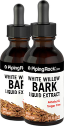White Willow Bark Liquid Extract Alcohol Free 2 fl oz (59 mL) Compte-gouttes en verre
