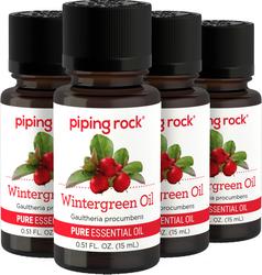 Wintergreen Pure Essential Oil (GC/MS Tested), 1/2 fl oz (15 mL) Dropper Bottle