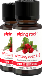 Wintergreen Pure Essential Oil (GC/MS Tested), 0.5 fl oz x 2 Bottles