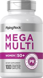 Woman's Mega Multi Vitamin for Women 50 Plus, 100 Coated Caplets