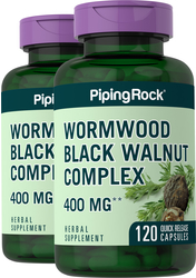 Wormwood Black Walnut Complex 400 mg 2 Bottles x 120 Capsules