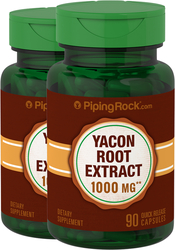 Yacon Root Extract 1000 mg Standardized 2 Bottles x 90 Capsules