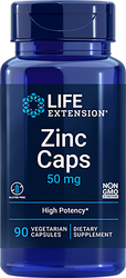 Zinc Caps (OptiZinc), 50 mg, 90 Vegetarian Capsules
