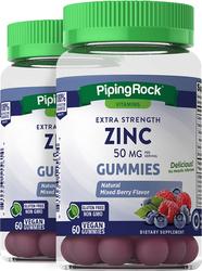 Zinc Gummies (Natural Mixed Berry), 50 mg (per serving), 60 Vegan Gummies