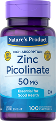 Zink picolinaat (zink met hoge opname) 100 Snel afgevende capsules