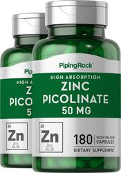 Zink picolinaat (zink met hoge opname) 180 Snel afgevende capsules