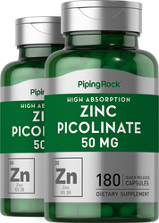 Zinc Picolinate 50 mg 2 Bottles x 180 Capsules